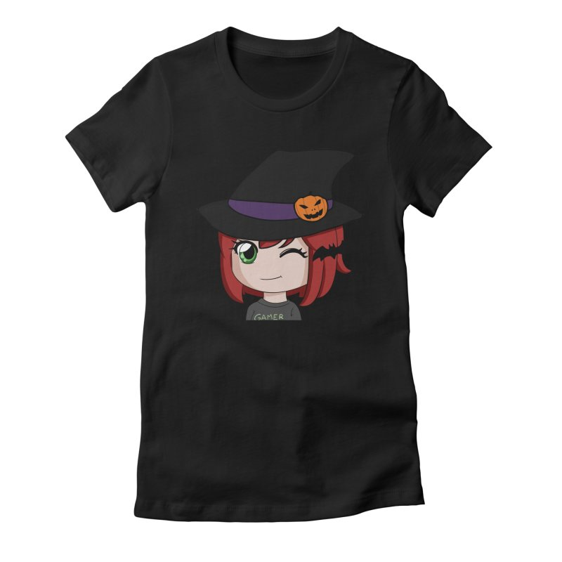 Witchy Maeka Women's Fitted T-Shirt by Maeka's Artist Shop