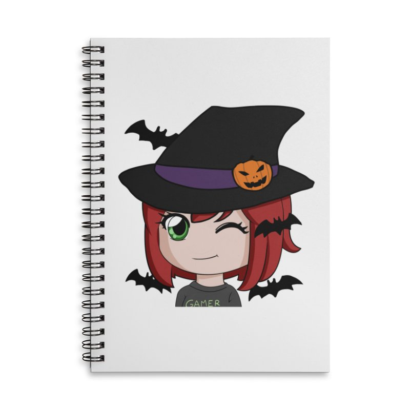 Witchy Maeka Accessories Lined Spiral Notebook by Maeka's Artist Shop
