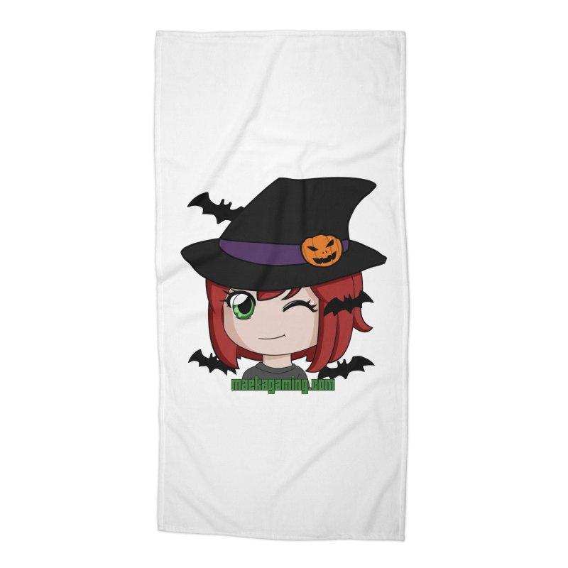 Witchy Maeka Accessories Beach Towel by Maeka's Artist Shop