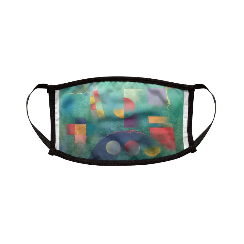 Teal Abstract by Russ Fagle Accessories Face Mask by Magichammer Art By Russ Fagle Shop