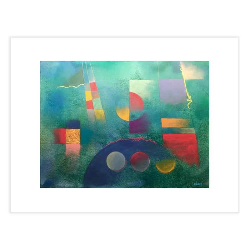 Teal Abstract by Russ Fagle Home Fine Art Print by Magichammer Art By Russ Fagle Shop