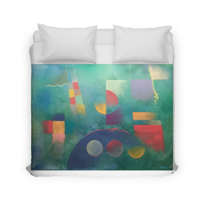 Teal Abstract by Russ Fagle Home Duvet by Magichammer Art By Russ Fagle Shop