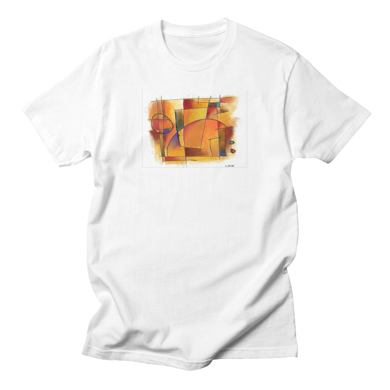 Earth Tone Abstract Men's T-Shirt by Magichammer Art By Russ Fagle Shop