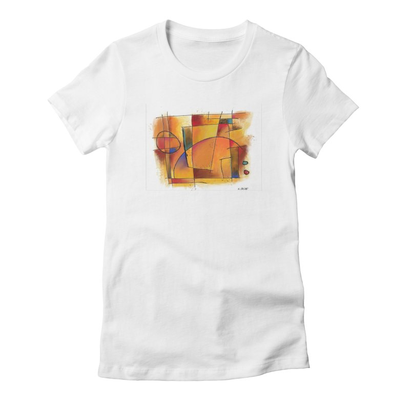 Earth Tone Abstract Women's T-Shirt by Magichammer Art By Russ Fagle Shop