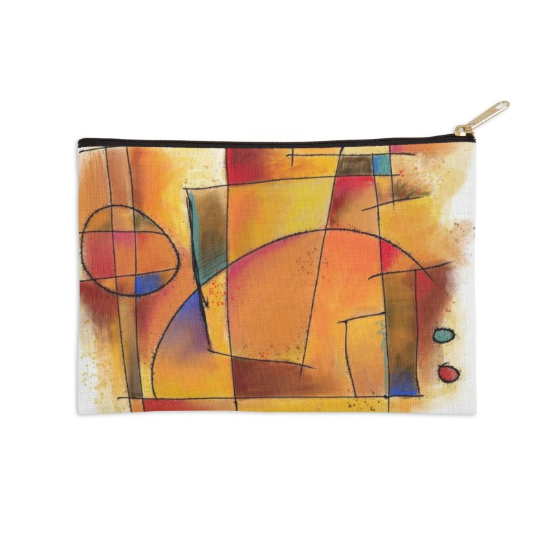 Earth Tone Abstract Accessories Zip Pouch by Magichammer Art By Russ Fagle Shop