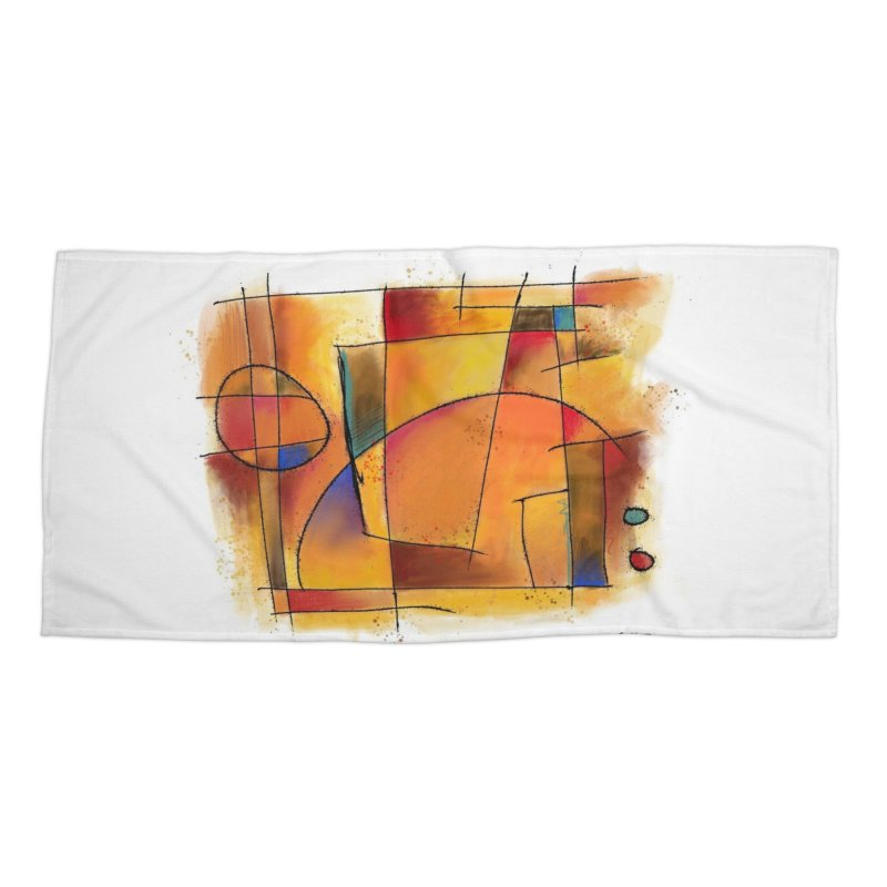 Earth Tone Abstract Accessories Beach Towel by Magichammer Art By Russ Fagle Shop