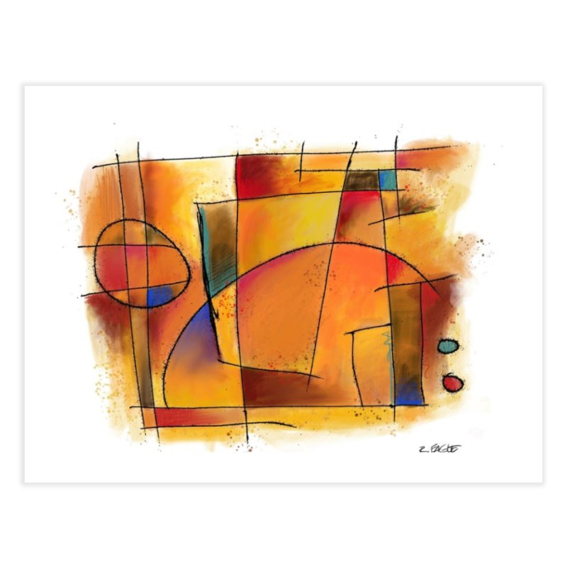 Earth Tone Abstract Home Fine Art Print by Magichammer Art By Russ Fagle Shop