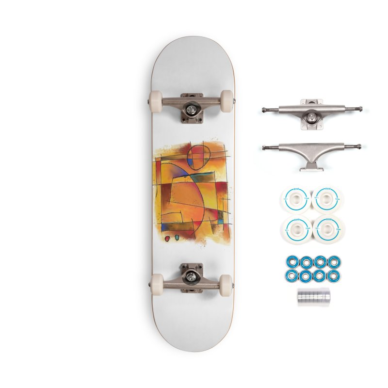 Earth Tone Abstract Accessories Skateboard by Magichammer Art By Russ Fagle Shop