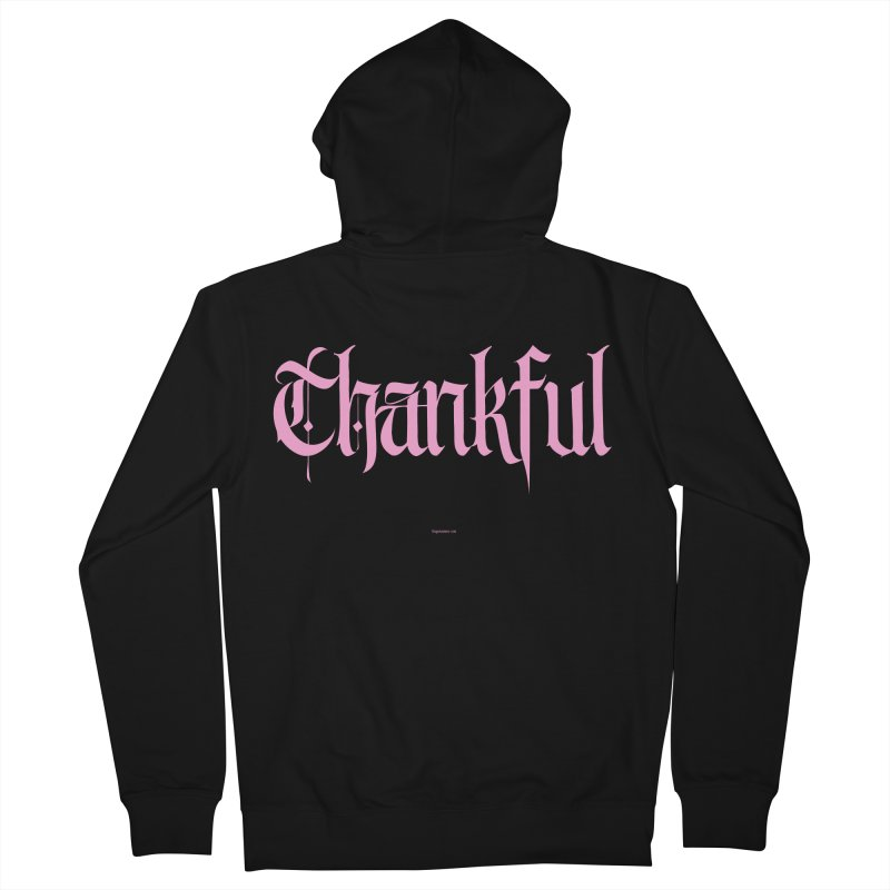 Thankful in pink Women's Zip-Up Hoody by Magichammer Art By Russ Fagle Shop