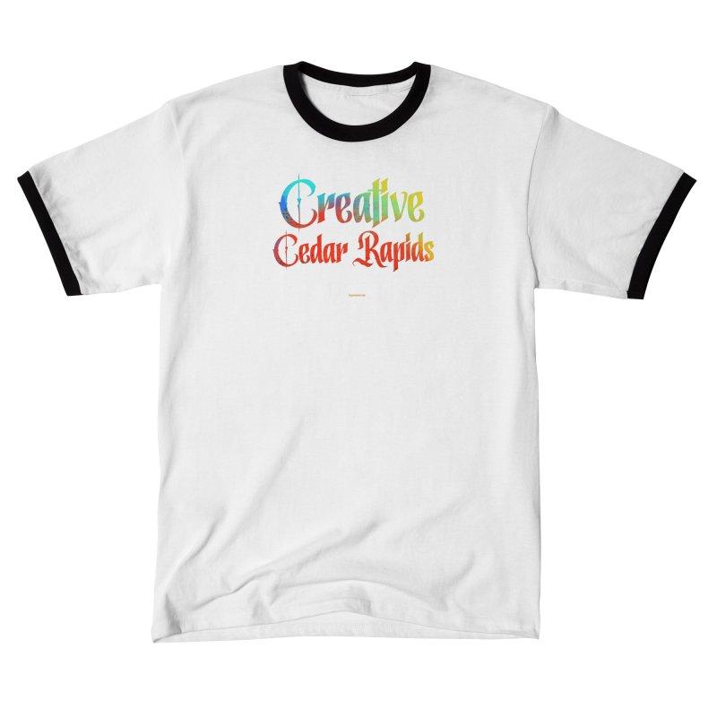 Creative Cedar Rapids Men's T-Shirt by Magichammer Art By Russ Fagle Shop