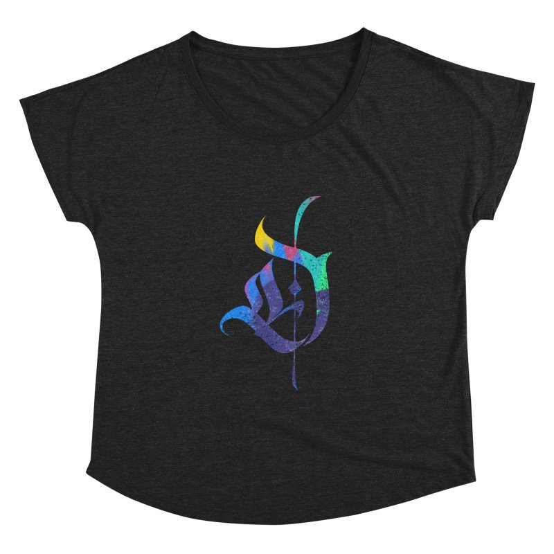 Colorful D Women's Scoop Neck by Magichammer Art By Russ Fagle Shop