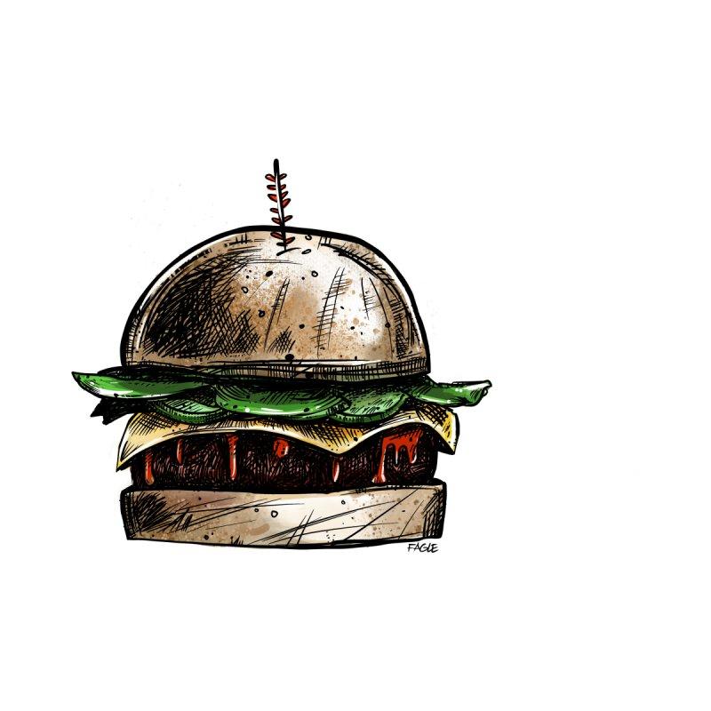 Cheeseburger Men's T-Shirt by Magichammer Art By Russ Fagle Shop