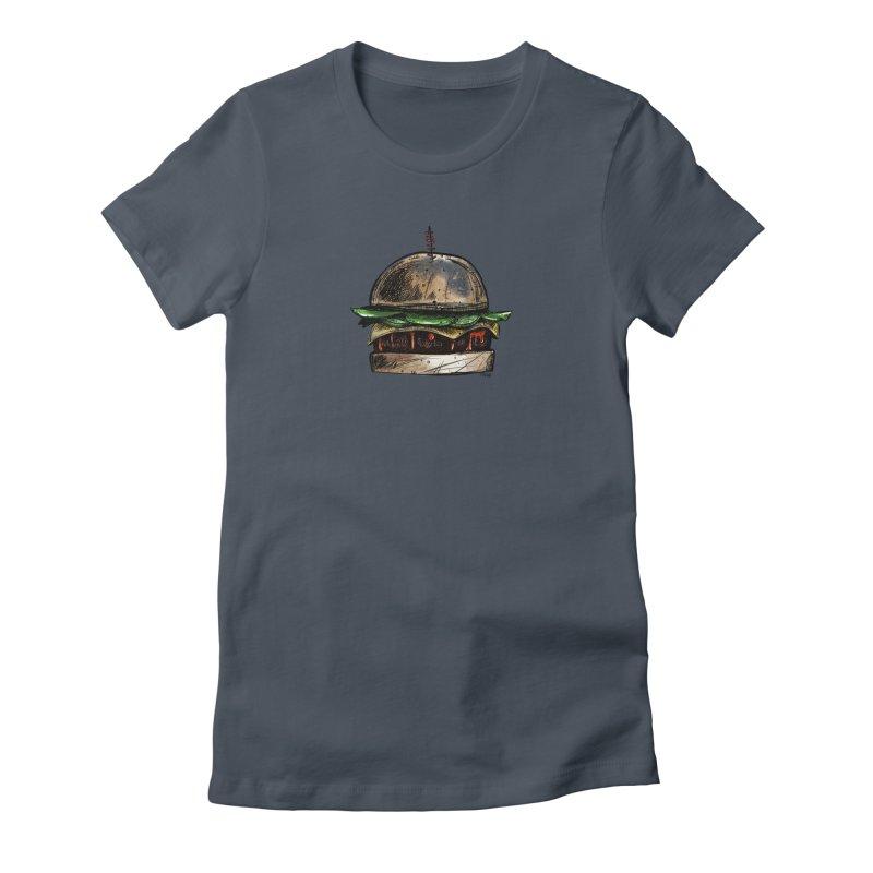 Cheeseburger Women's T-Shirt by Magichammer Art By Russ Fagle Shop