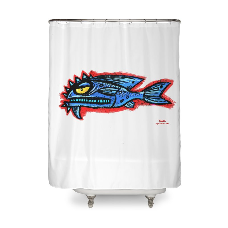 Bluefish Home Shower Curtain by Magichammer Art By Russ Fagle Shop