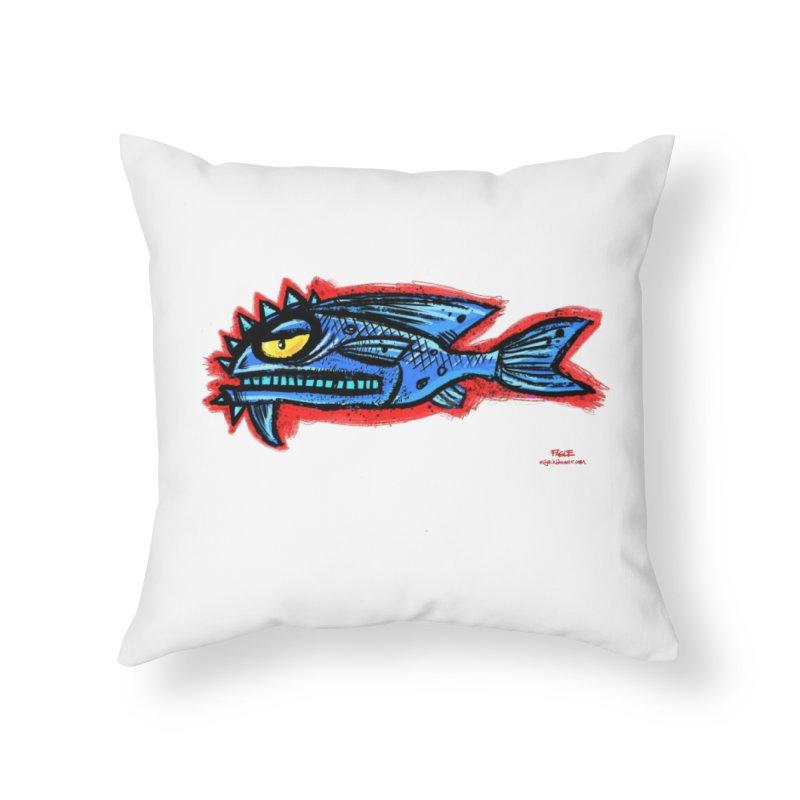 Bluefish Home Throw Pillow by Magichammer Art By Russ Fagle Shop