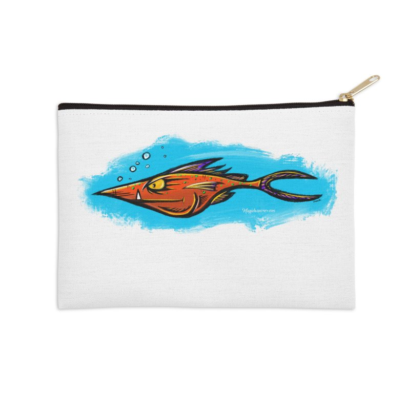 Devilish Fish Accessories Zip Pouch by Magichammer Art By Russ Fagle Shop