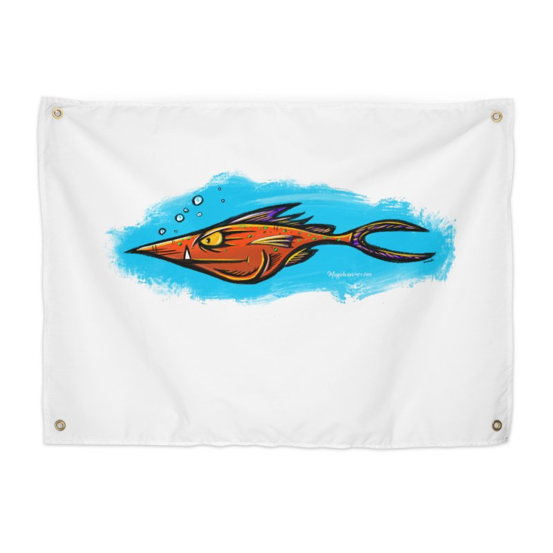 Devilish Fish Home Tapestry by Magichammer Art By Russ Fagle Shop