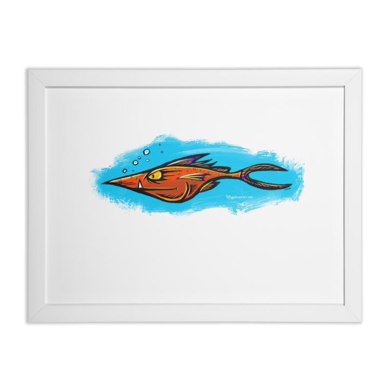 Devilish Fish Home Framed Fine Art Print by Magichammer Art By Russ Fagle Shop