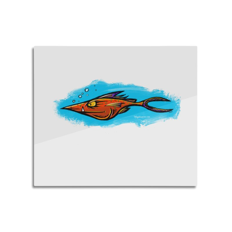 Devilish Fish Home Mounted Aluminum Print by Magichammer Art By Russ Fagle Shop