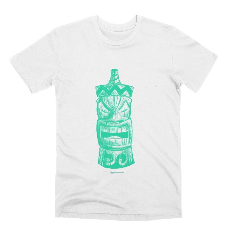 Teal Tiki Men's T-Shirt by Magichammer Art By Russ Fagle Shop