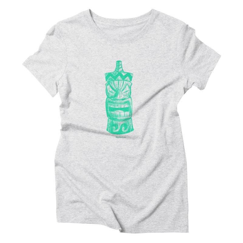 Teal Tiki Women's T-Shirt by Magichammer Art By Russ Fagle Shop