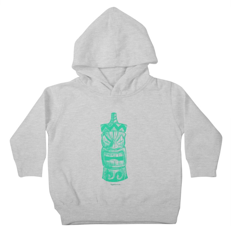 Teal Tiki Kids Toddler Pullover Hoody by Magichammer Art By Russ Fagle Shop