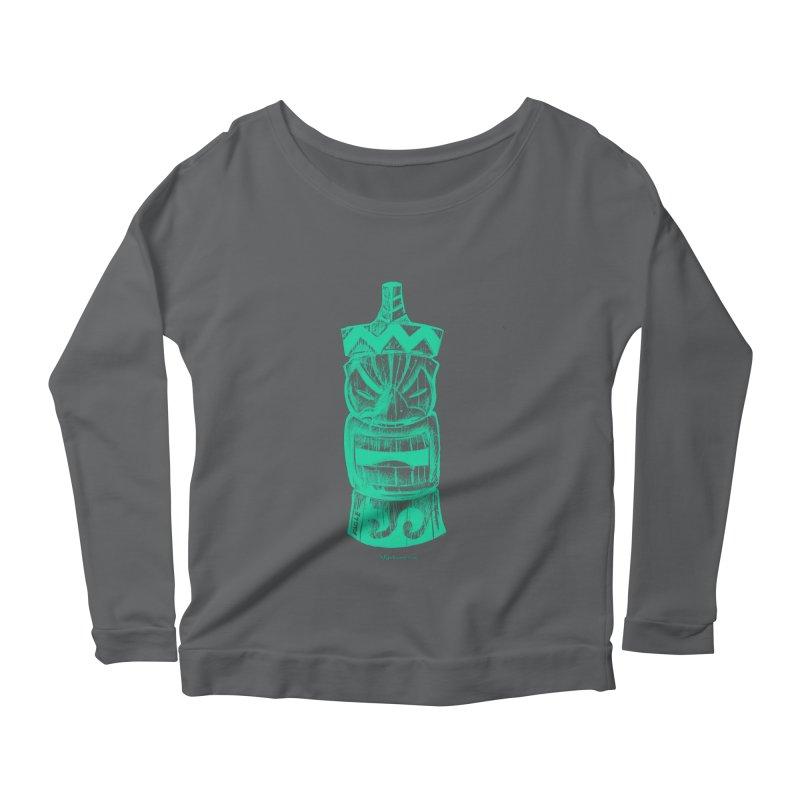 Teal Tiki Women's Longsleeve T-Shirt by Magichammer Art By Russ Fagle Shop