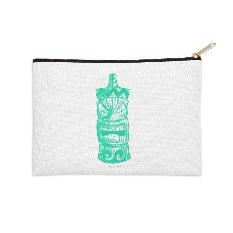 Teal Tiki Accessories Zip Pouch by Magichammer Art By Russ Fagle Shop