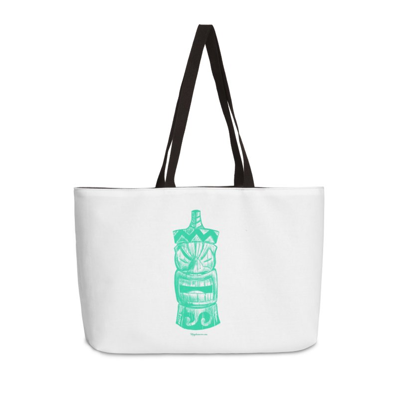 Teal Tiki Accessories Bag by Magichammer Art By Russ Fagle Shop