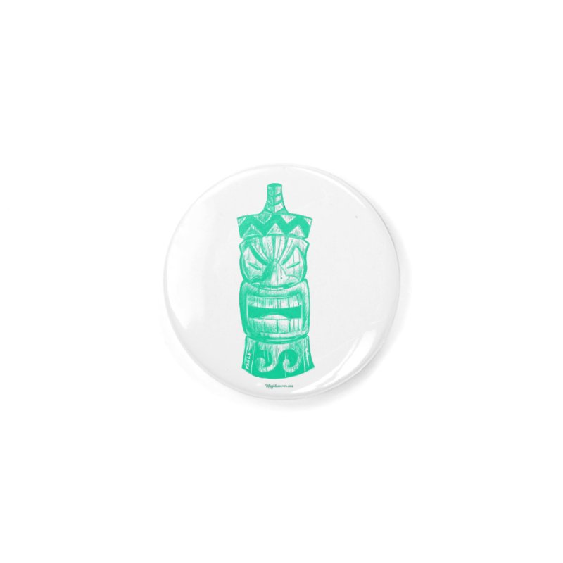 Teal Tiki Accessories Button by Magichammer Art By Russ Fagle Shop