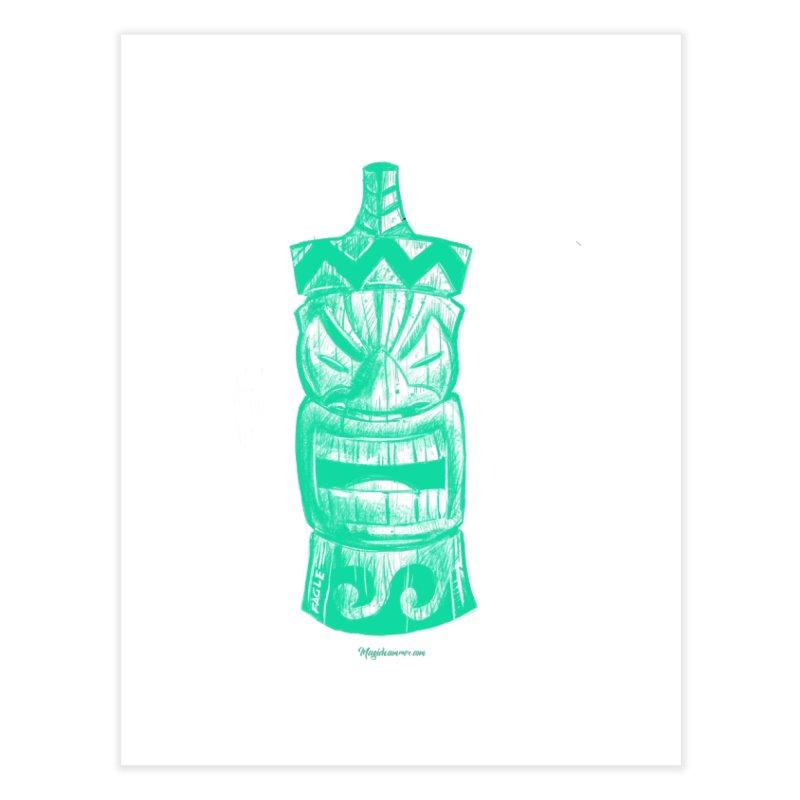 Teal Tiki Home Fine Art Print by Magichammer Art By Russ Fagle Shop