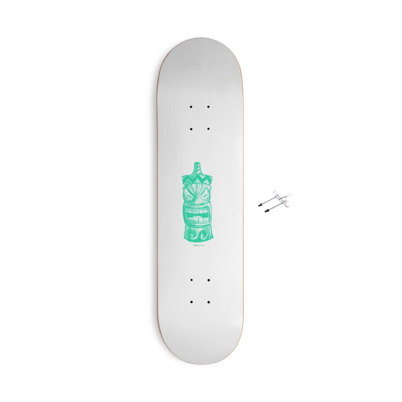 Teal Tiki Accessories Skateboard by Magichammer Art By Russ Fagle Shop
