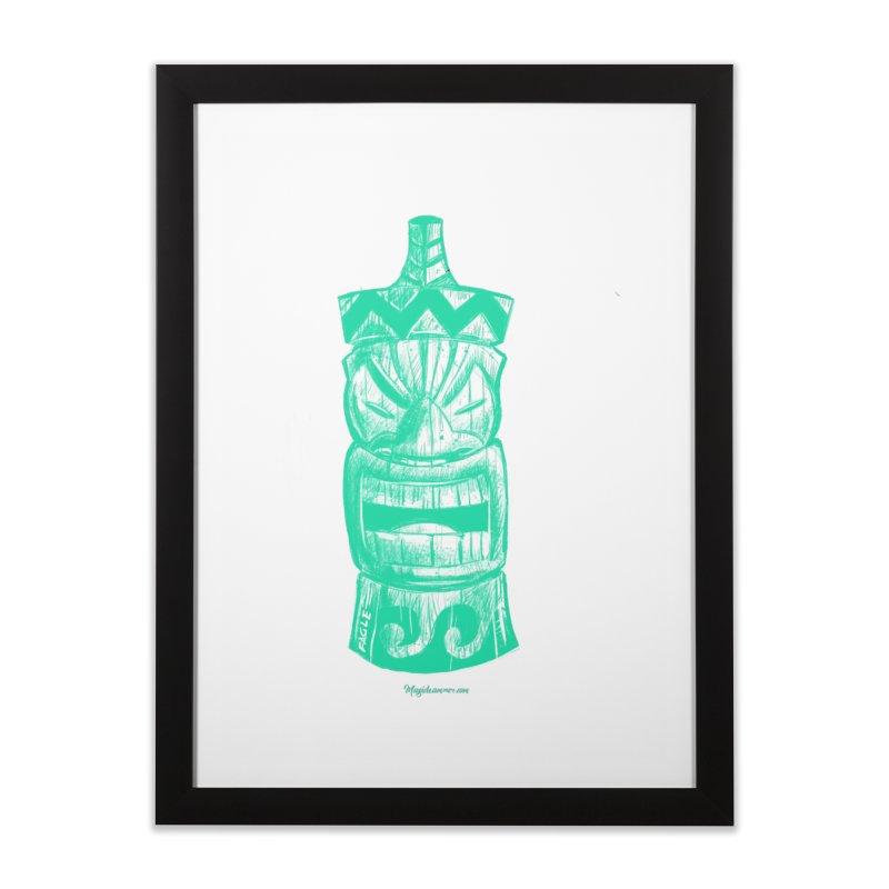 Teal Tiki Home Framed Fine Art Print by Magichammer Art By Russ Fagle Shop