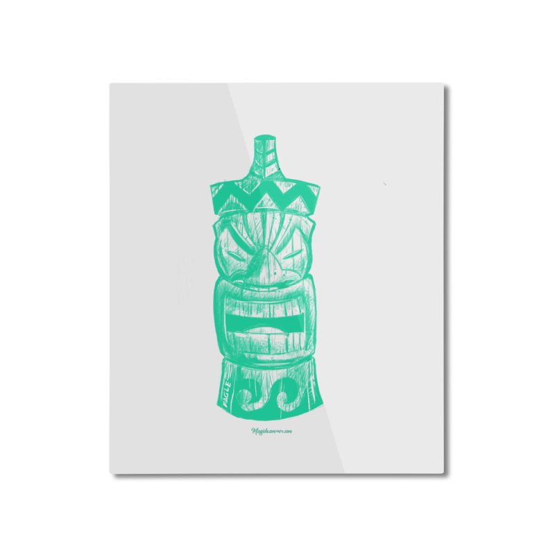 Teal Tiki Home Mounted Aluminum Print by Magichammer Art By Russ Fagle Shop