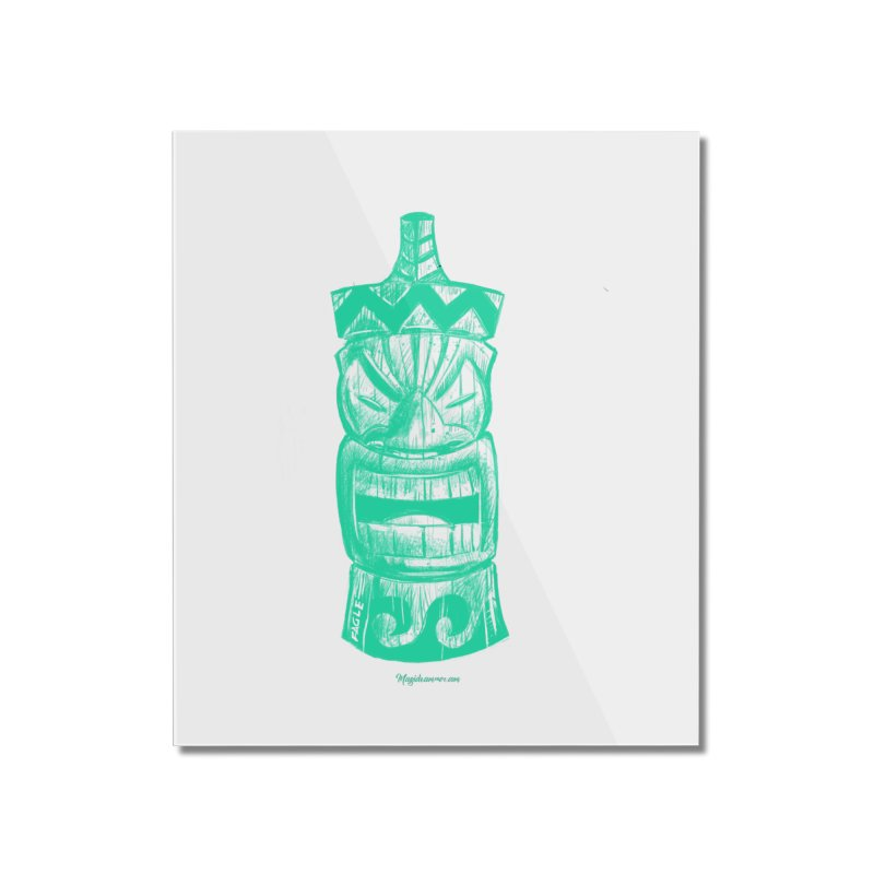 Teal Tiki Home Mounted Acrylic Print by Magichammer Art By Russ Fagle Shop