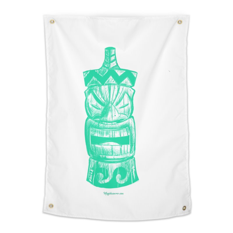 Teal Tiki Home Tapestry by Magichammer Art By Russ Fagle Shop