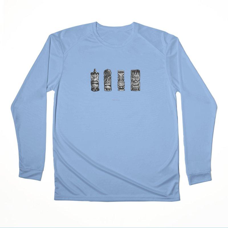 Four Tikis Women's Longsleeve T-Shirt by Magichammer Art By Russ Fagle Shop