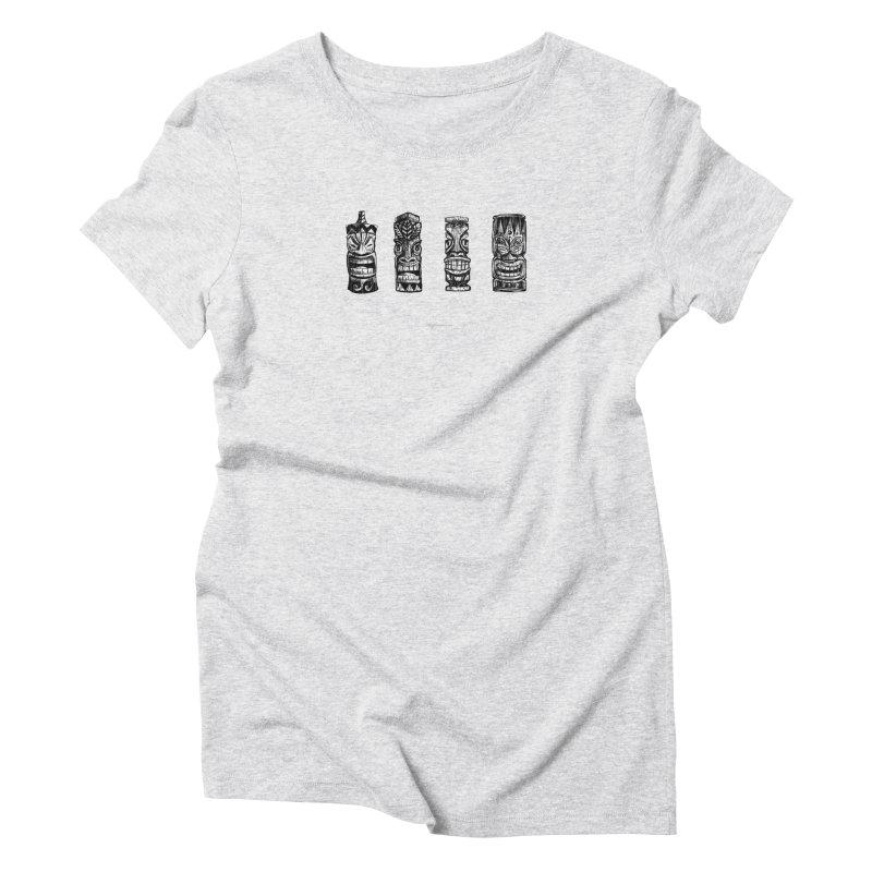 Four Tikis Women's T-Shirt by Magichammer Art By Russ Fagle Shop