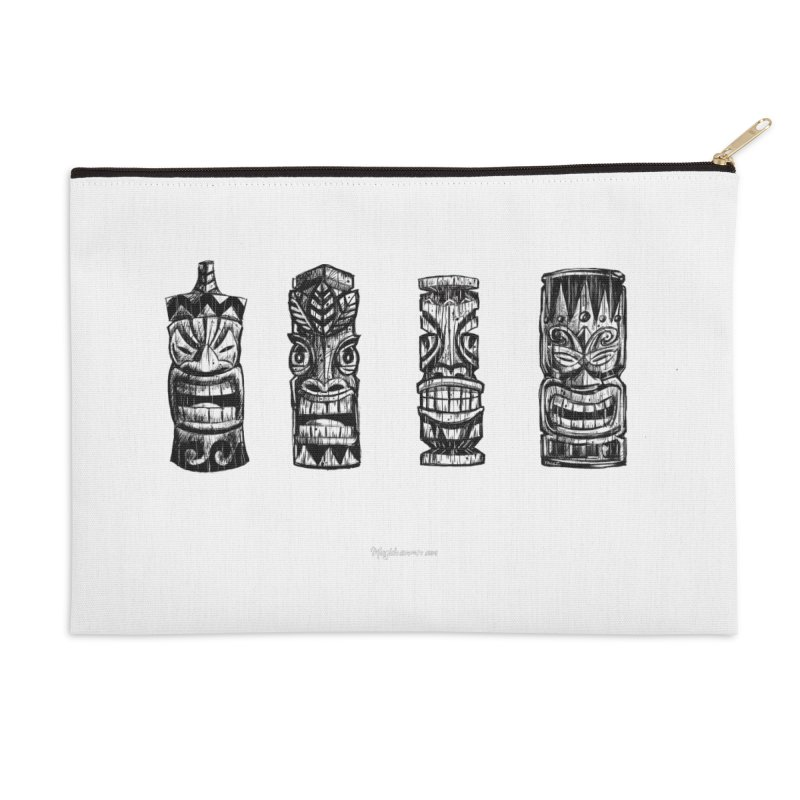 Four Tikis Accessories Zip Pouch by Magichammer Art By Russ Fagle Shop
