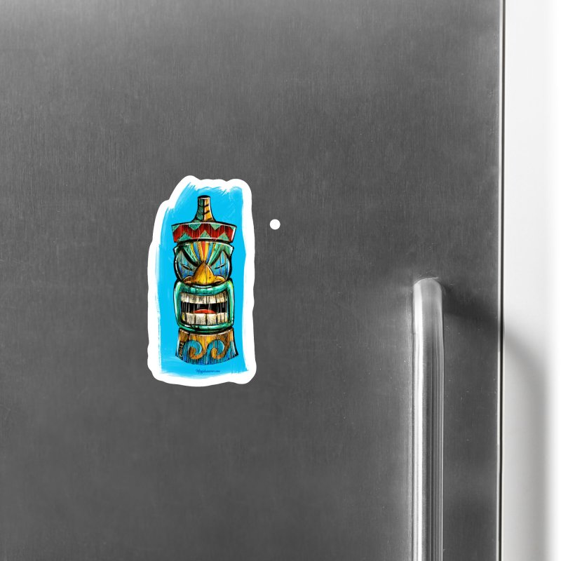 Ocean Wave Tiki Accessories Magnet by Magichammer Art By Russ Fagle Shop