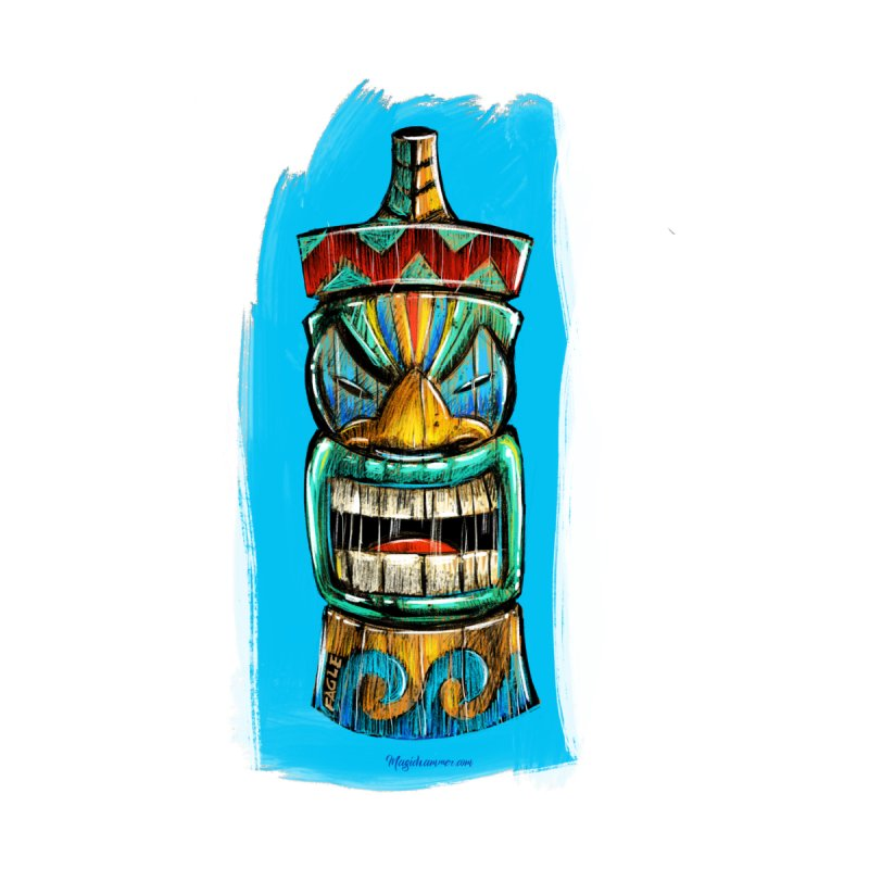 Ocean Wave Tiki Accessories Face Mask by Magichammer Art By Russ Fagle Shop