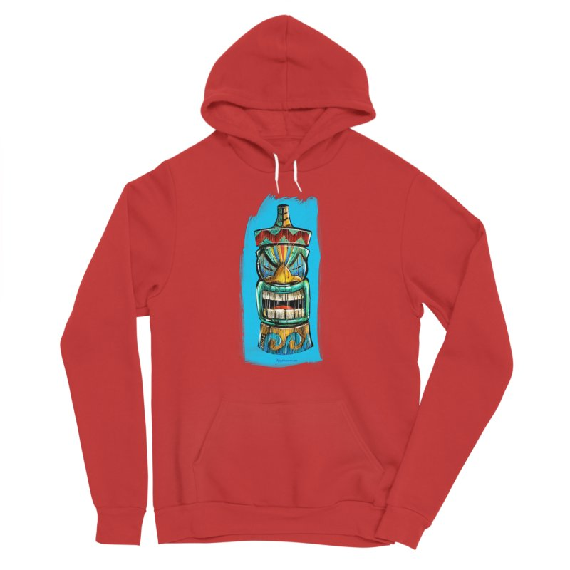 Ocean Wave Tiki Men's Pullover Hoody by Magichammer Art By Russ Fagle Shop