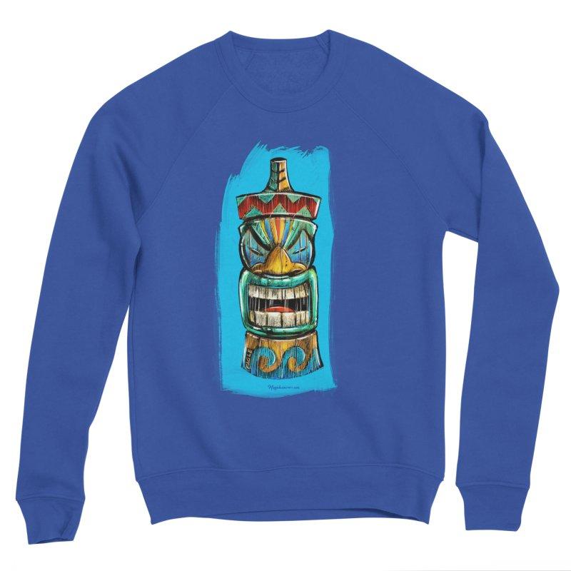 Ocean Wave Tiki Women's Sweatshirt by Magichammer Art By Russ Fagle Shop