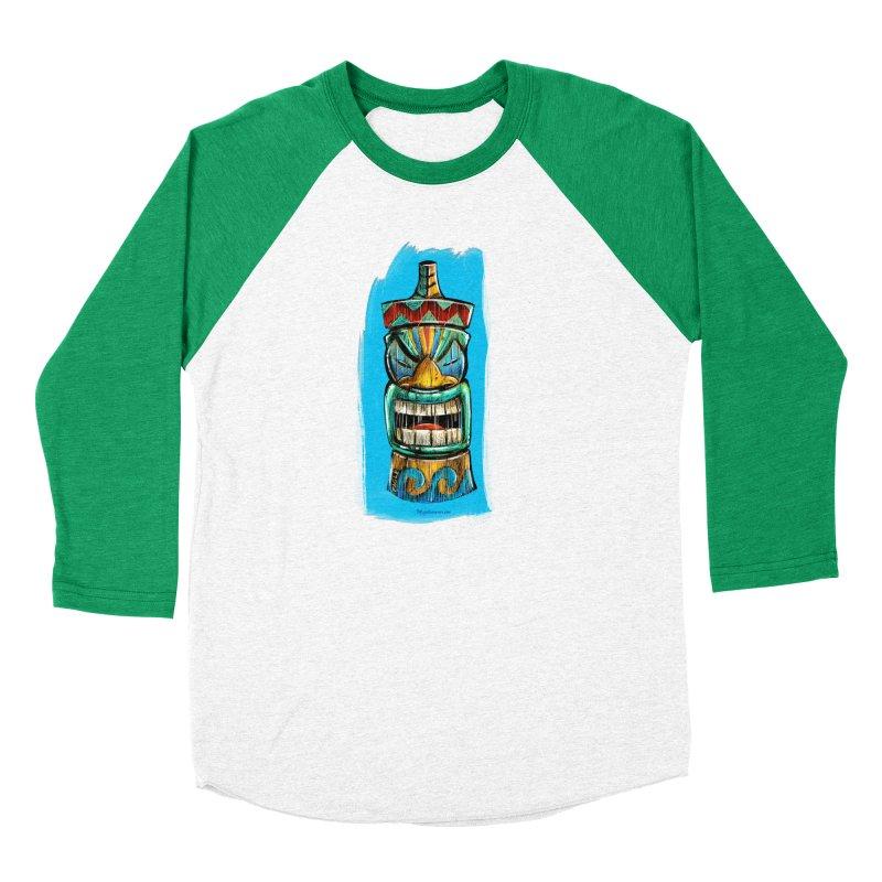 Ocean Wave Tiki Men's Longsleeve T-Shirt by Magichammer Art By Russ Fagle Shop