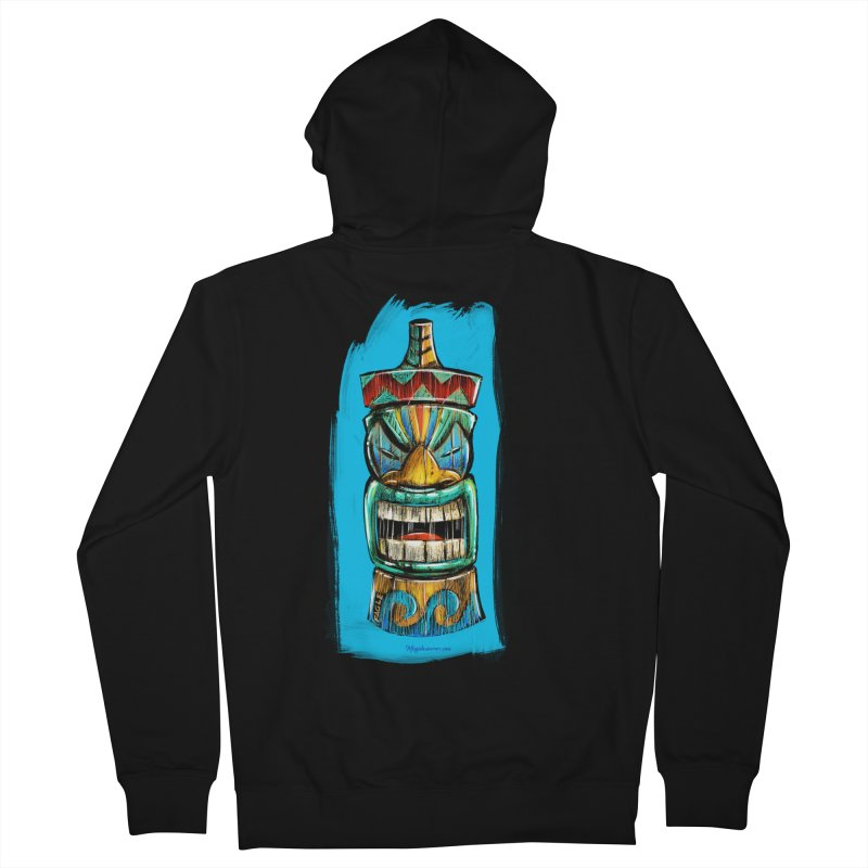 Ocean Wave Tiki Men's Zip-Up Hoody by Magichammer Art By Russ Fagle Shop
