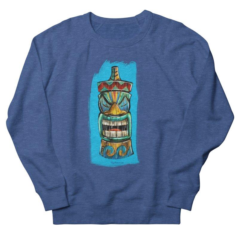 Ocean Wave Tiki Men's Sweatshirt by Magichammer Art By Russ Fagle Shop