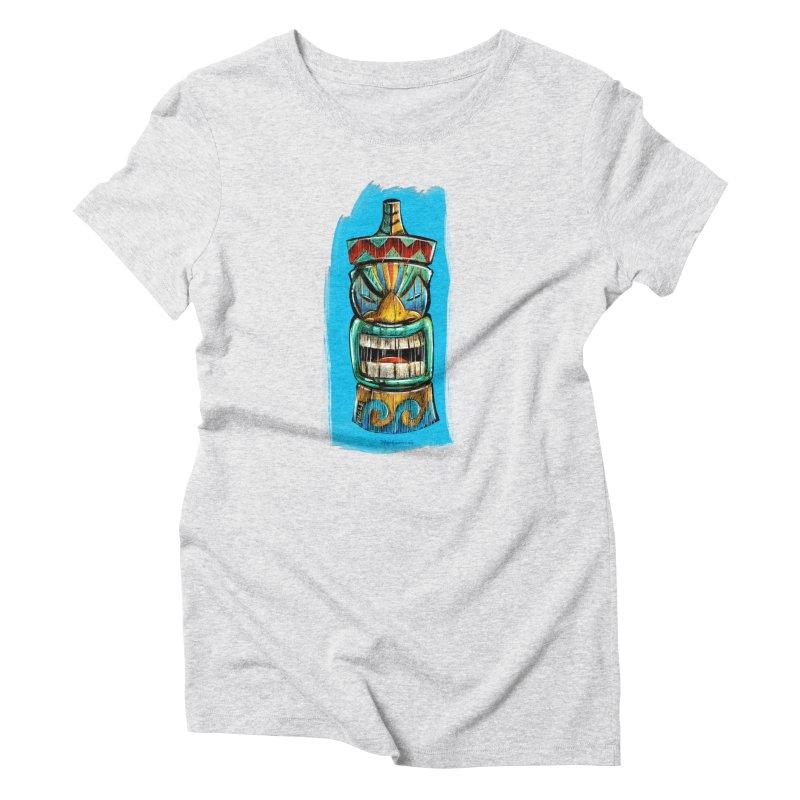 Ocean Wave Tiki Women's T-Shirt by Magichammer Art By Russ Fagle Shop