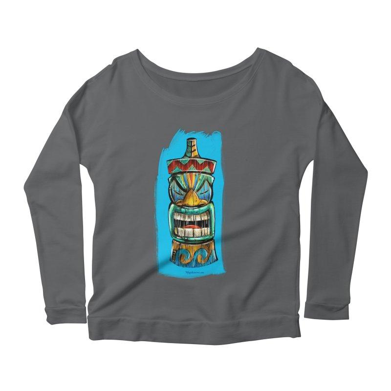 Ocean Wave Tiki Women's Longsleeve T-Shirt by Magichammer Art By Russ Fagle Shop