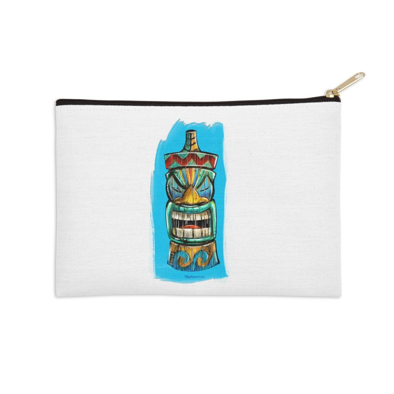 Ocean Wave Tiki Accessories Zip Pouch by Magichammer Art By Russ Fagle Shop