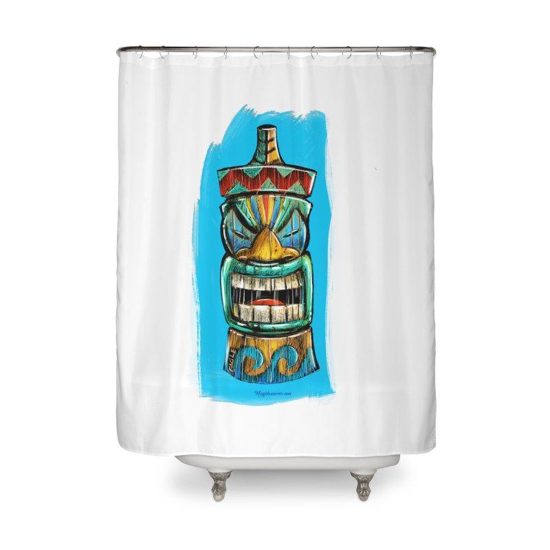 Ocean Wave Tiki Home Shower Curtain by Magichammer Art By Russ Fagle Shop